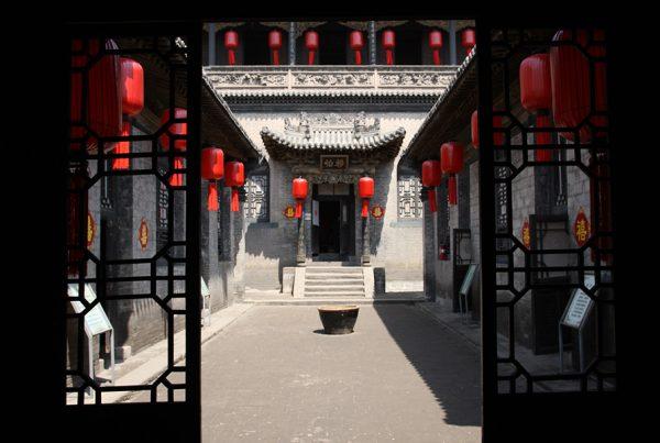 Cenário do filme Lanternas Vermelhas (1991) Zhang Yimou, Shanxi
