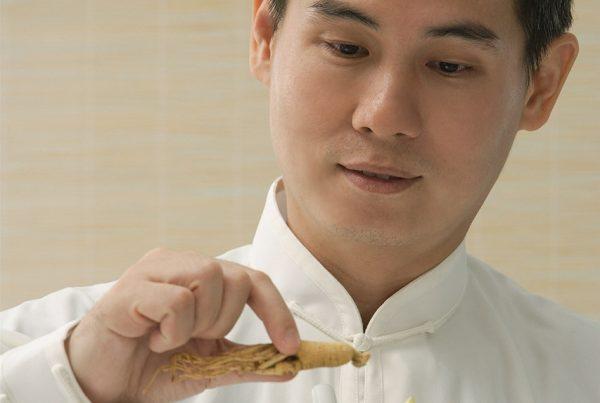 Médico analisa raiz de ginseng para tratamento