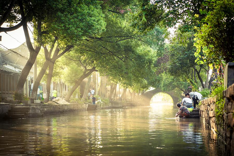 Canal em Tongli, Jiangnan