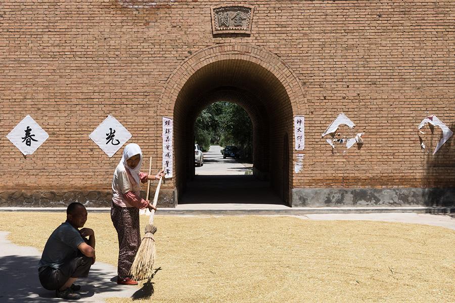grãos em zona rural da China, Zhejiang
