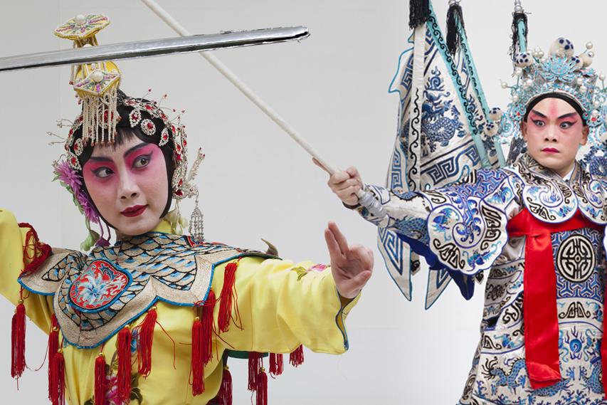 Atores da Opera de Pequim