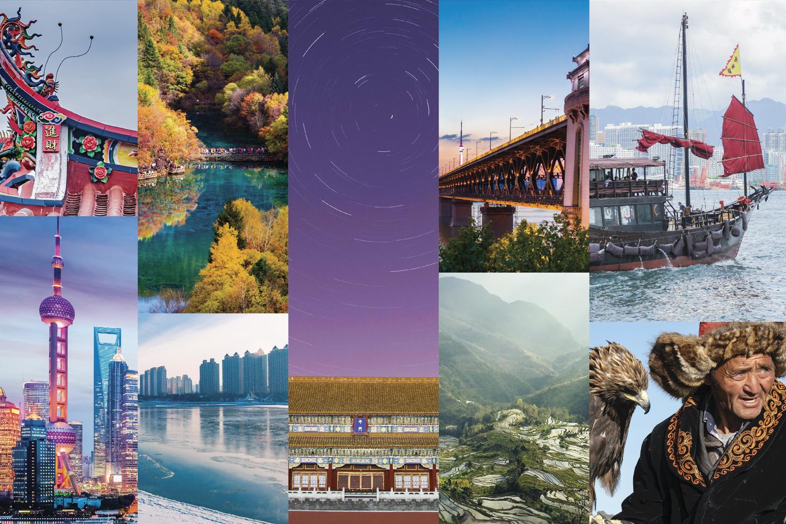 Diferentes regiões da China