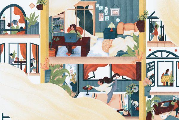 Apartamentos com pessoas em isolamento social